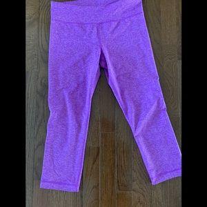 Purple Under Armour Capri Leggings